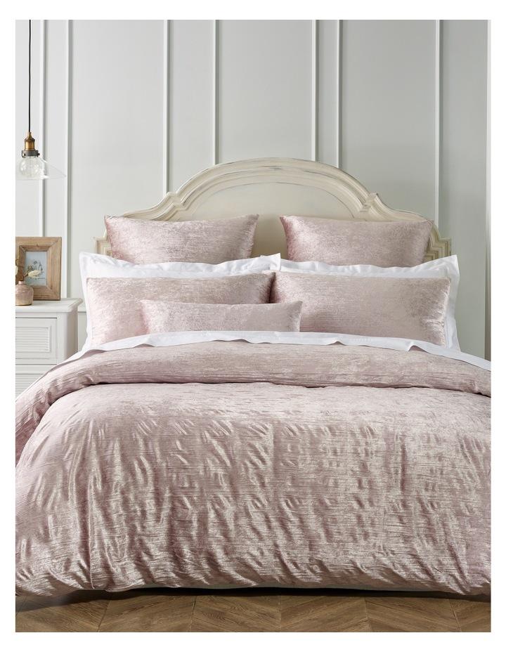 Taormina Velvet Quilt Cover Set in Pink image 1