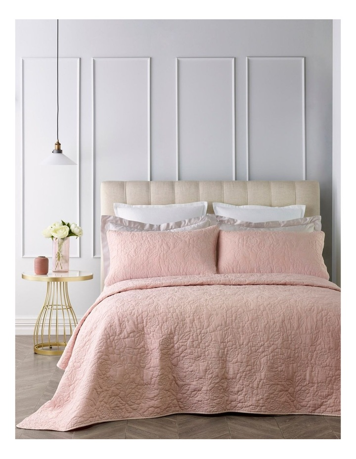 Lotus Quilted Coverlet Set in Pink image 1