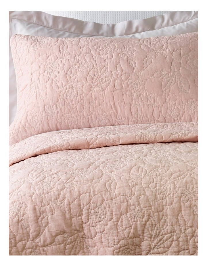 Lotus Quilted Coverlet Set in Pink image 2