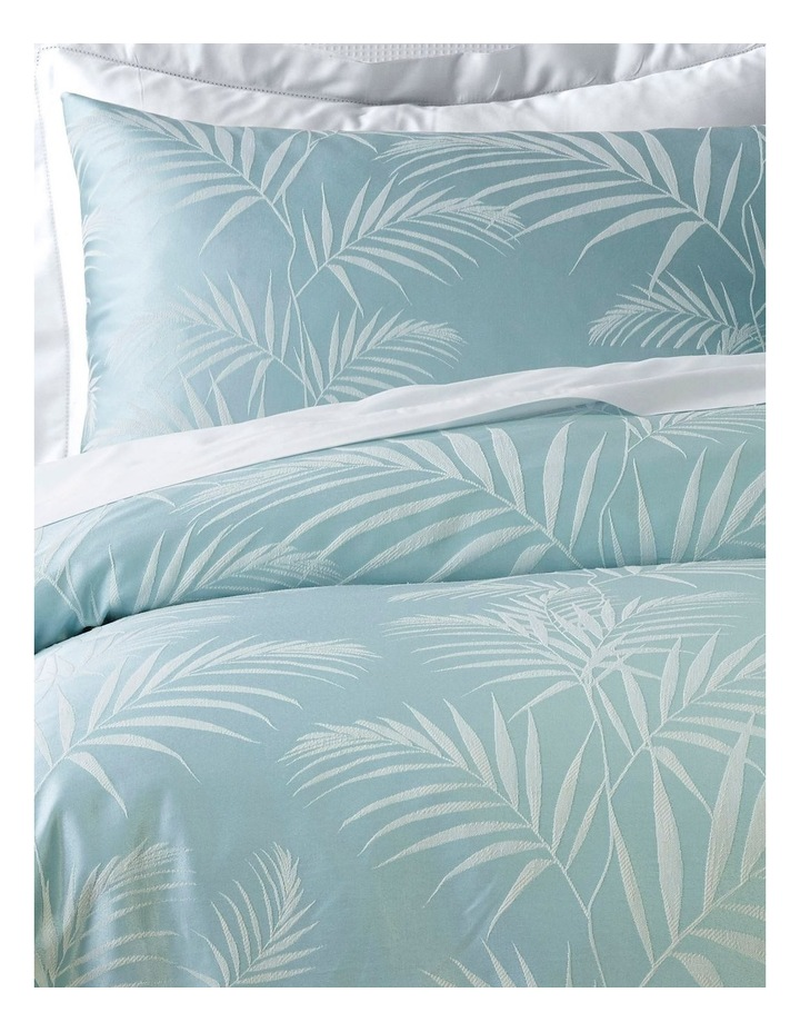 Filaree Jacquard Quilt Cover Set in Green image 2