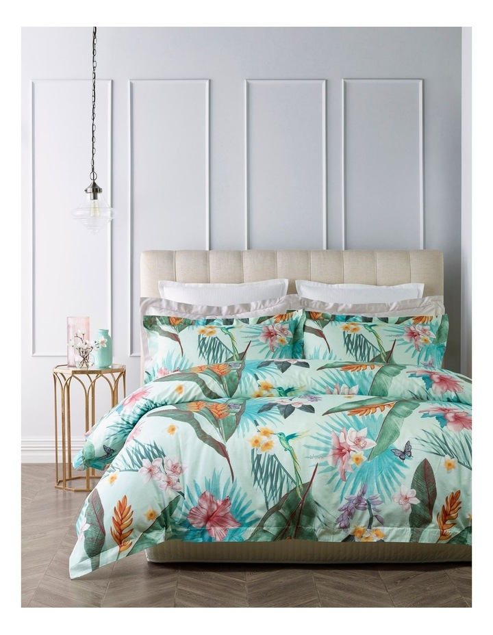 Gardenia Quilt Cover Set in Multi Duckegg image 1