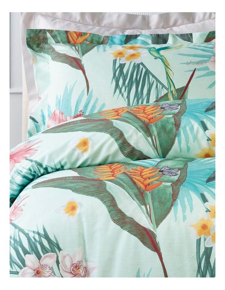 Gardenia Quilt Cover Set in Multi Duckegg image 2