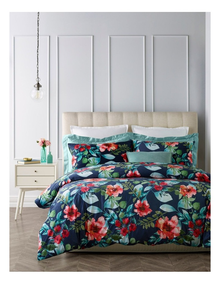 Begonia Velvet Quilt Cover Set in Multi image 1