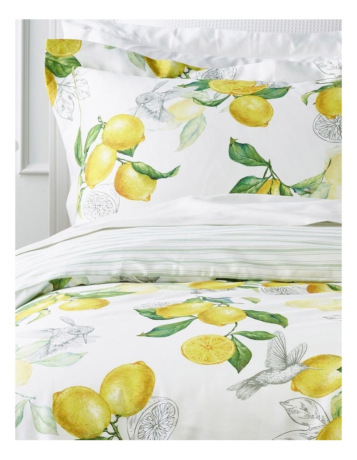 Dahlia Cotton Quilt Cover Set in Yellow/Green image 2