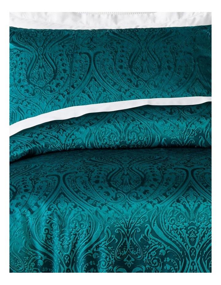 Aurora Embossed Velvet Quilt Cover Set in Green image 2