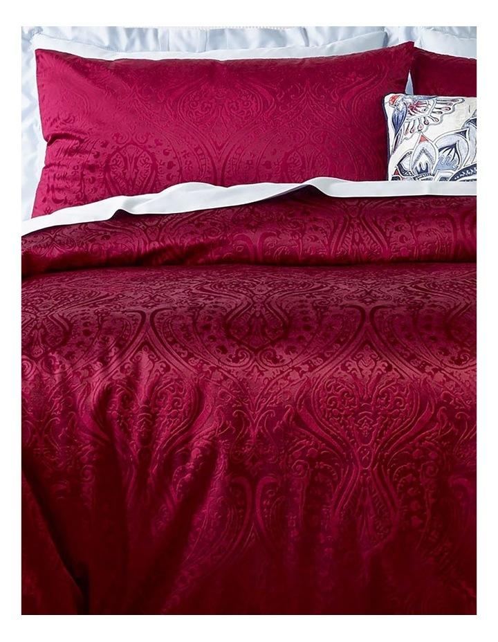 Aurora Embossed Velvet Quilt Cover Set in Berry image 2