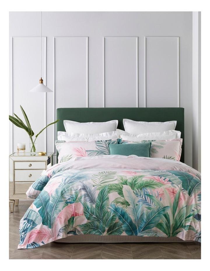 Iva Leaf Quilt Cover Set in Pink image 1