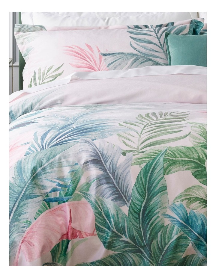 Iva Leaf Quilt Cover Set in Pink image 2