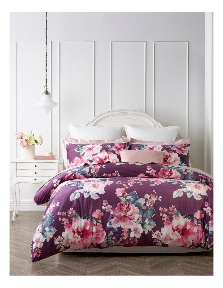 Fleur Quilt Cover Set in Rose image 1