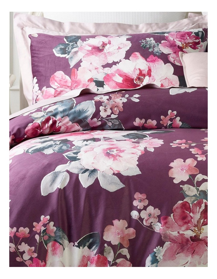Fleur Quilt Cover Set in Rose image 2