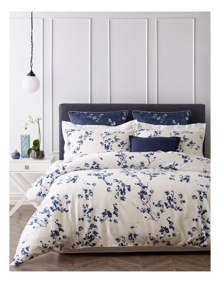 Sakura Quilt Cover Set in Blue image 1