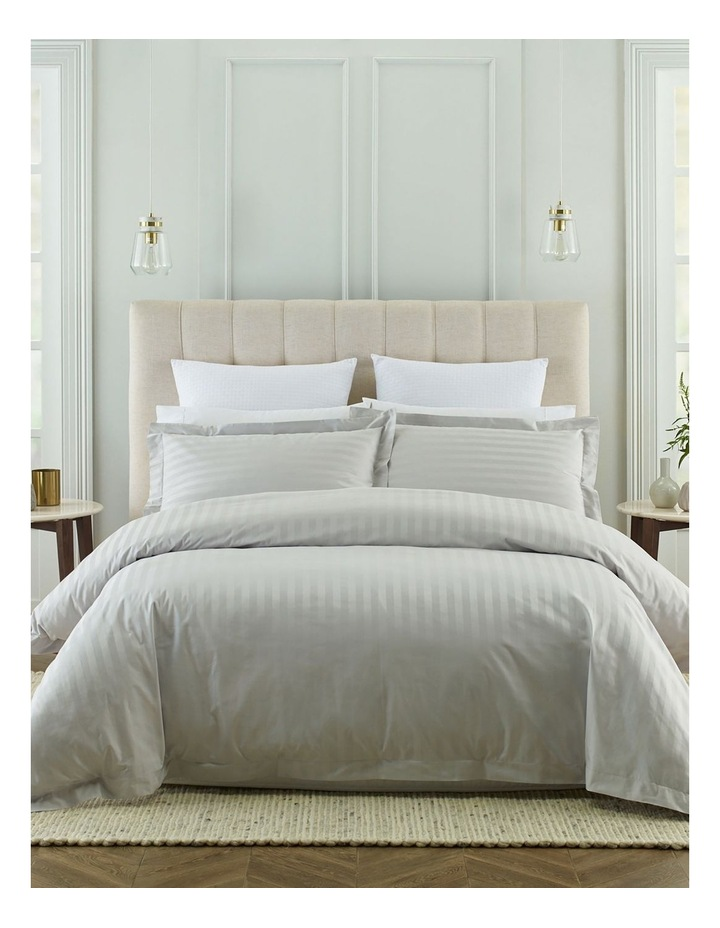 500TC Superior Cotton Quilt Cover Set in Silver image 1