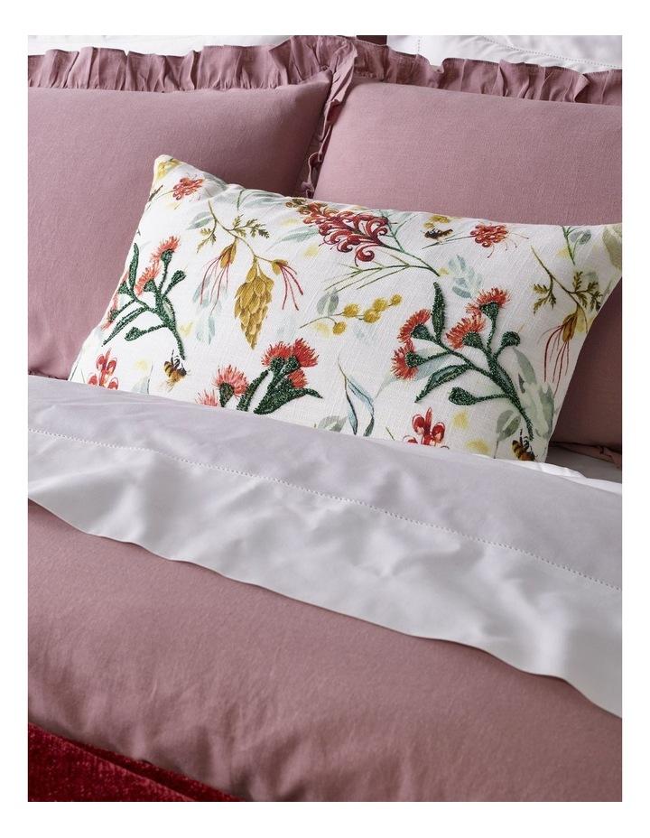 Brielle Ruffled Edge Linen Cotton Quilt Cover Set in Mauve image 3