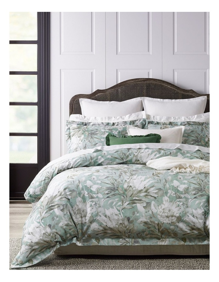 Charlotte Cotton Sateen Quilt Cover Set in White image 1