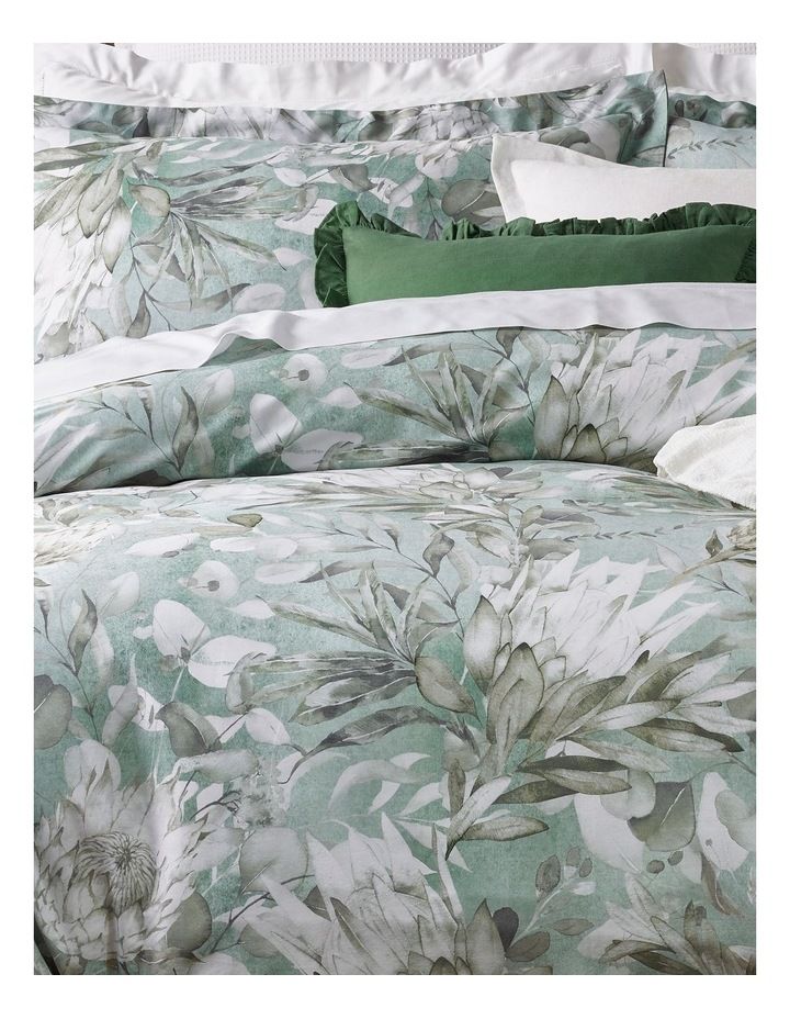 Charlotte Cotton Sateen Quilt Cover Set in White image 2