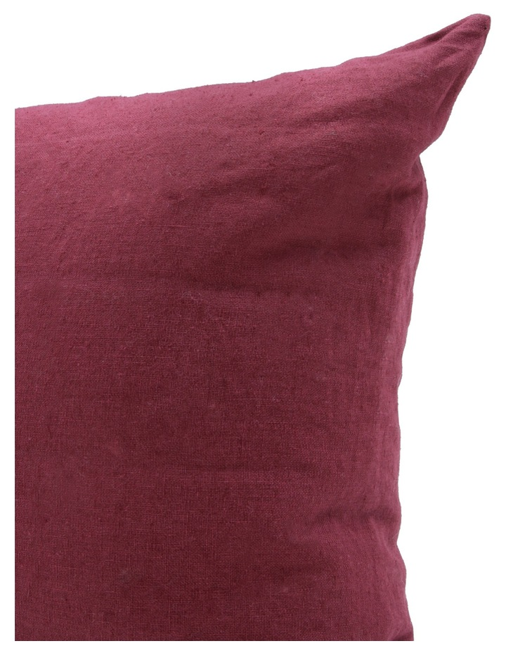 Antoinette Linen Cushion in Cordovan image 2