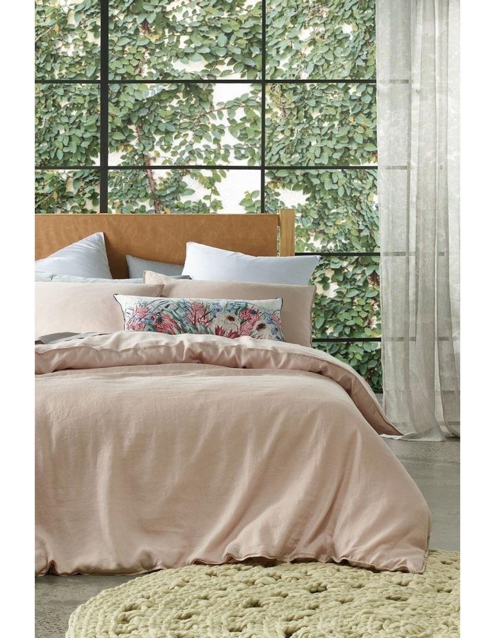Sandy Cape Linen Quilt Cover Set in Pale Pink image 1
