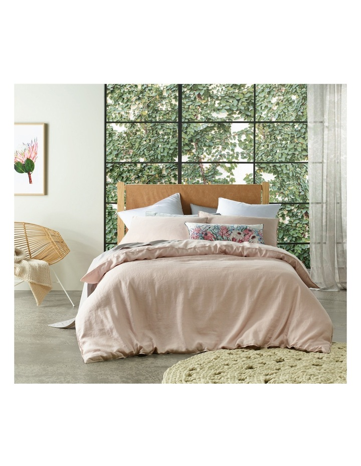 Sandy Cape Linen Quilt Cover in Pale Pink image 1