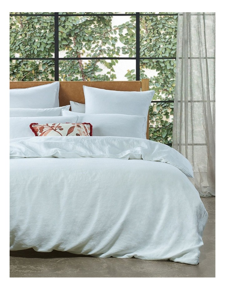 Sandy Cape Quilt Cover Set in White image 1