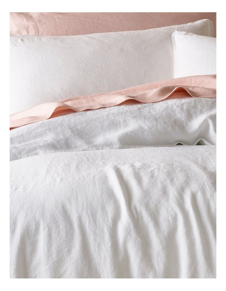 Sandy Cape Washed Belgian Linen Quilt Cover Set in White image 2