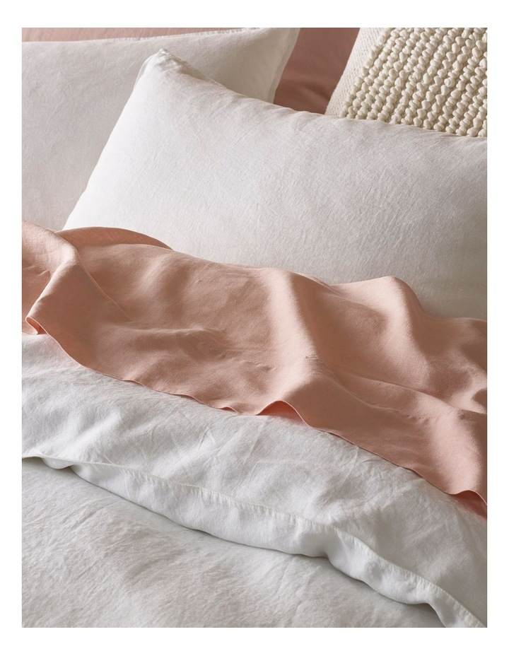 Sandy Cape Washed Belgian Linen Quilt Cover Set in White image 3