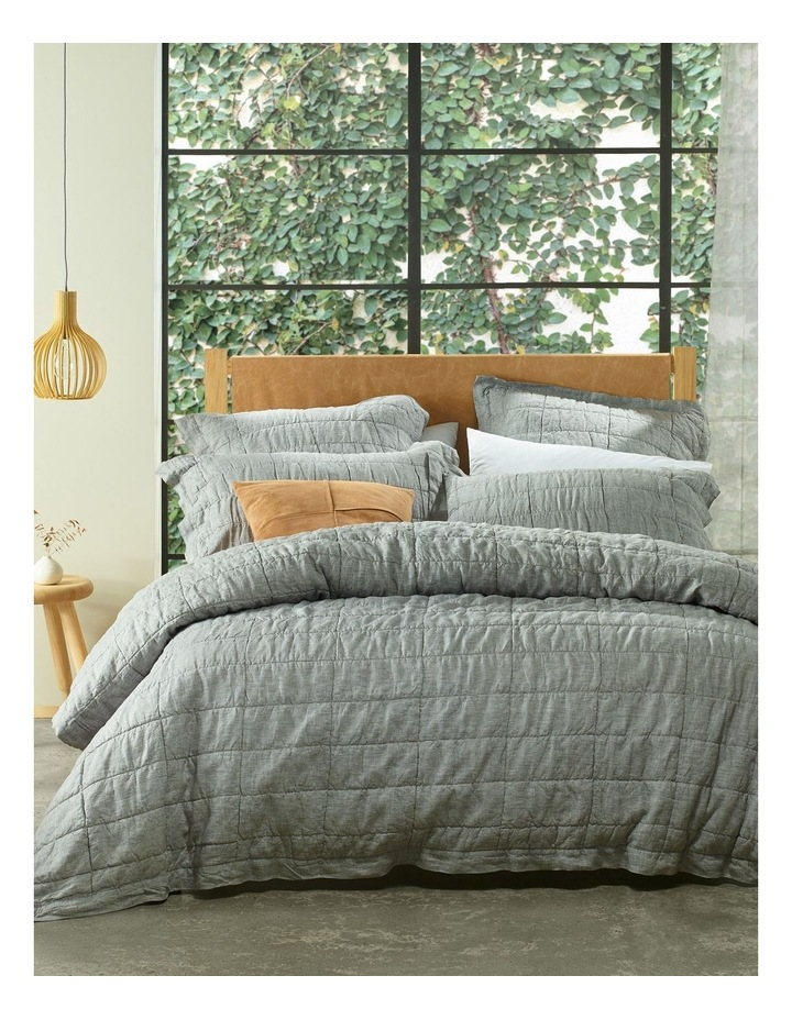 Katoomba Quilt Cover in Charcoal image 1