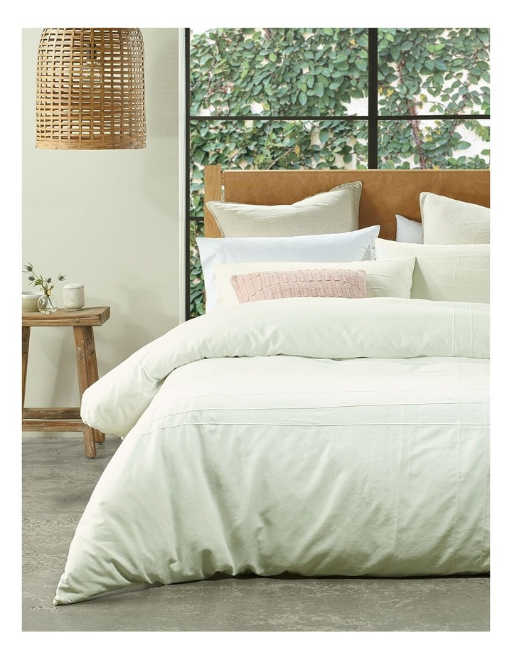 Tamboon Linen Cotton Quilt Cover Set in White image 1