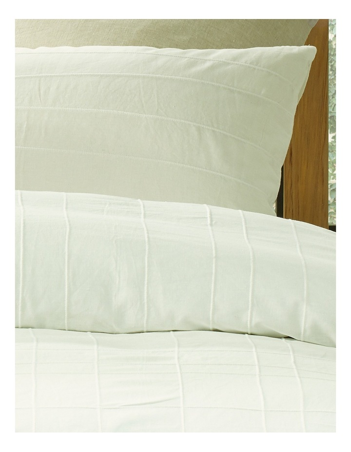 Tamboon Linen Cotton Quilt Cover Set in White image 2