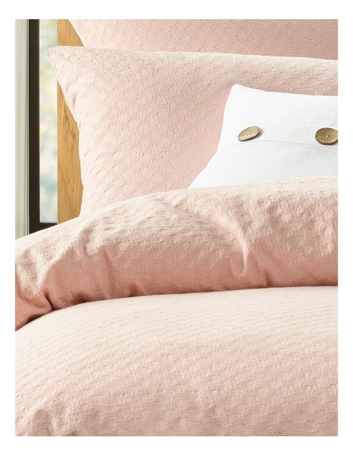 Kioloa Circle Jacquard Quilt Cover Set in Peach image 1