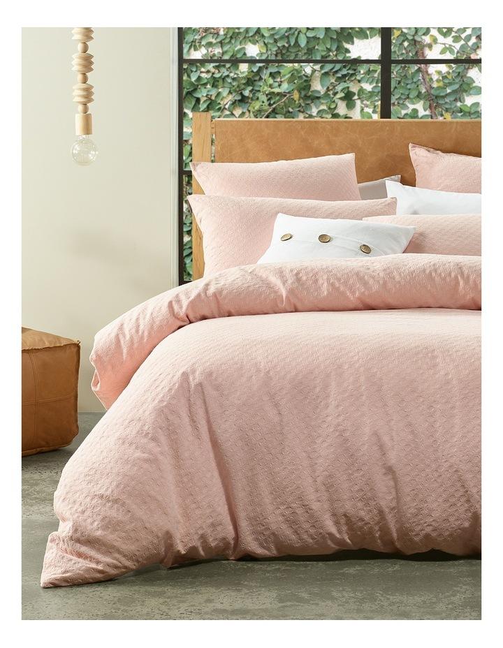 Kioloa Circle Jacquard Quilt Cover Set in Peach image 2