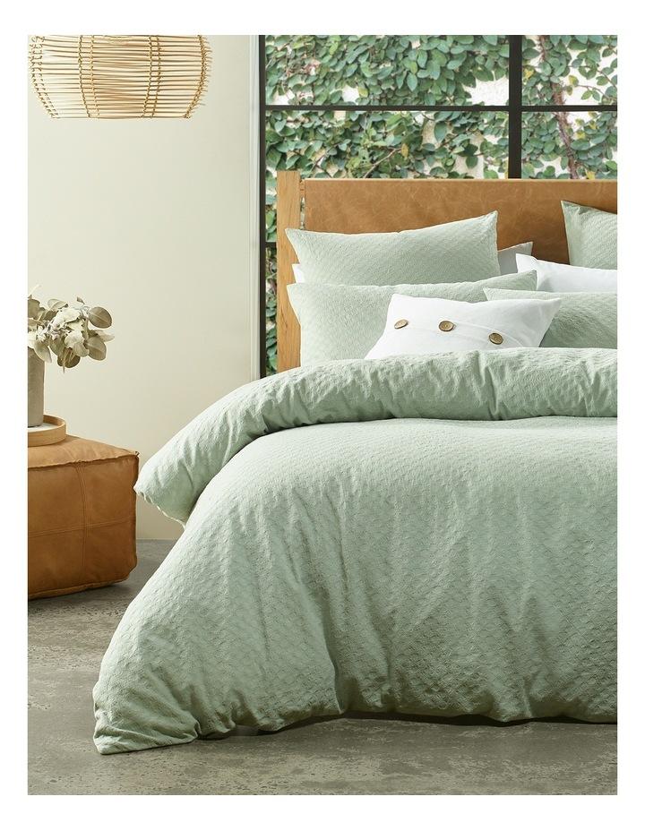 Kioloa Circle Jacquard Quilt Cover Set in Grey image 1