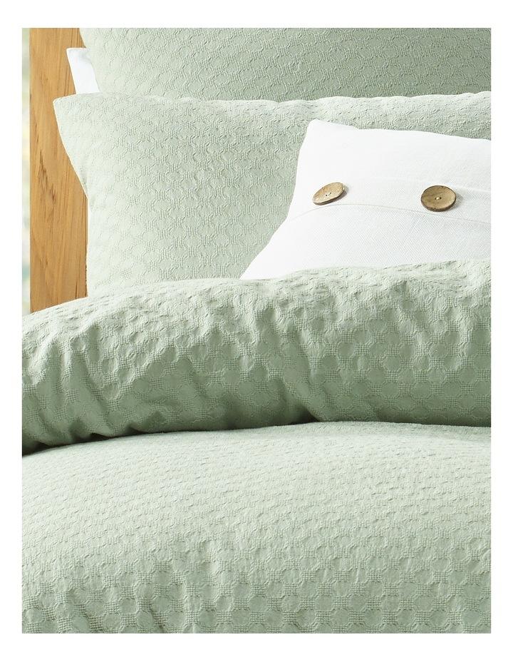 Kioloa Circle Jacquard Quilt Cover Set in Grey image 2