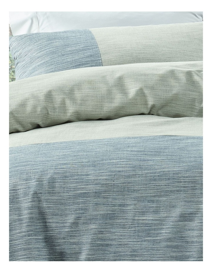 Dampier Yarn Dyed Quilt Cover Set in Navy image 2