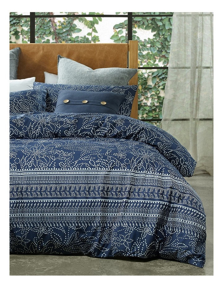 Boodarie Printed Quilt Cover Set in Navy image 1