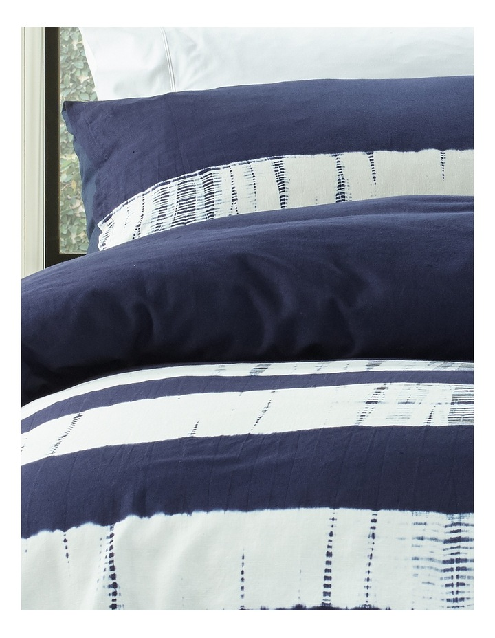 Keppel Tie Dyed Cotton Canvas Quilt Cover Set in Navy image 2