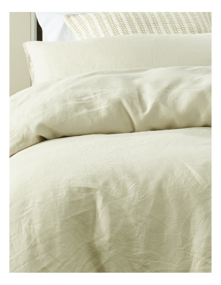 Sandy Cape Linen Quilt Cover Set in Moonbeam image 2