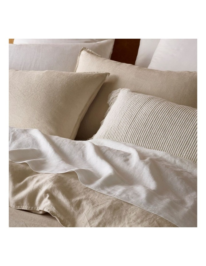 Sandy Cape Washed Belgian Linen Quilt Cover Set in Moonbeam image 2