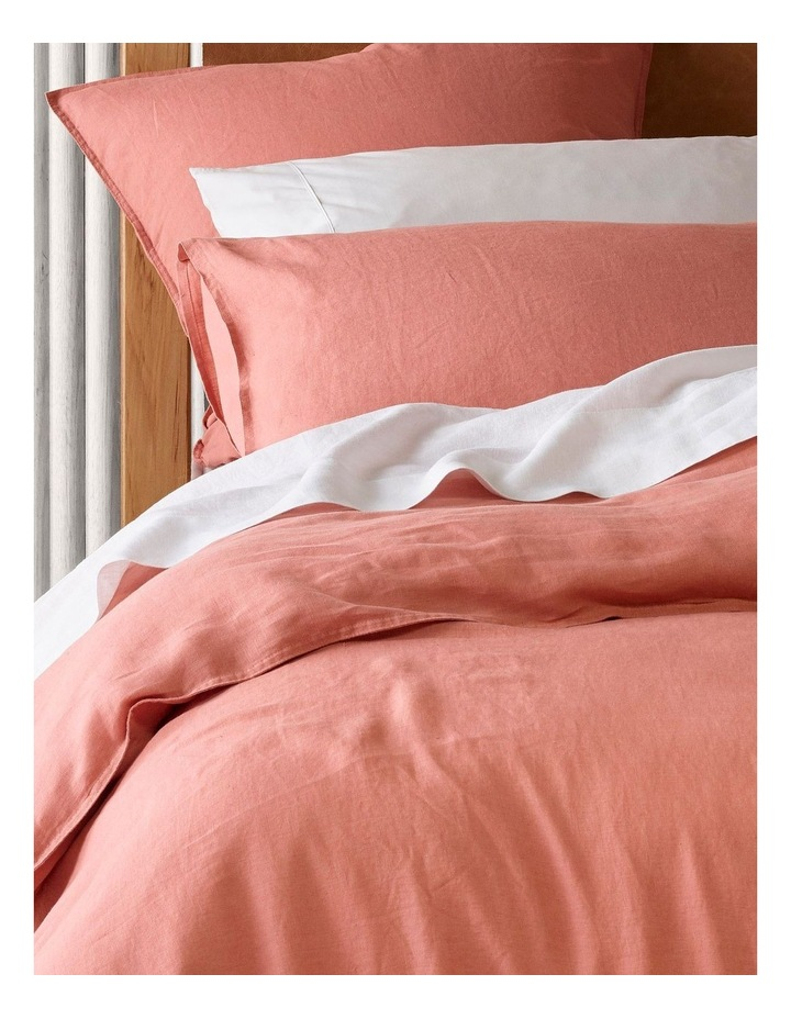 Sandy Cape Linen Quilt Cover Set in Coral image 2