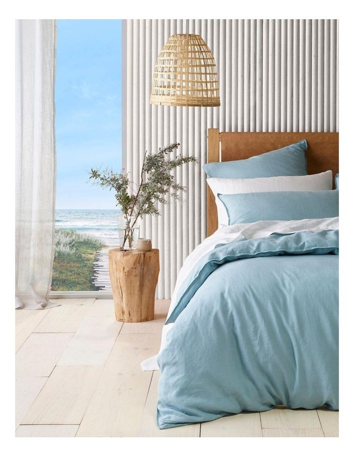 Sandy Cape Linen Quilt Cover Set in Ocean image 1