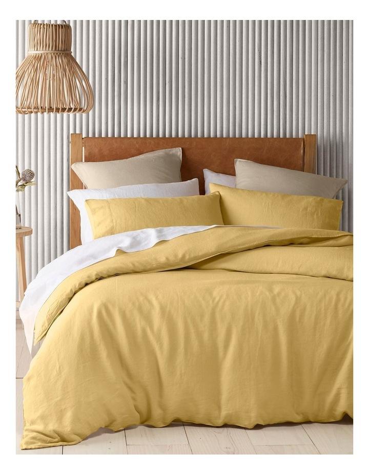 Sandy Cape Linen Quilt Cover in Saffron image 1