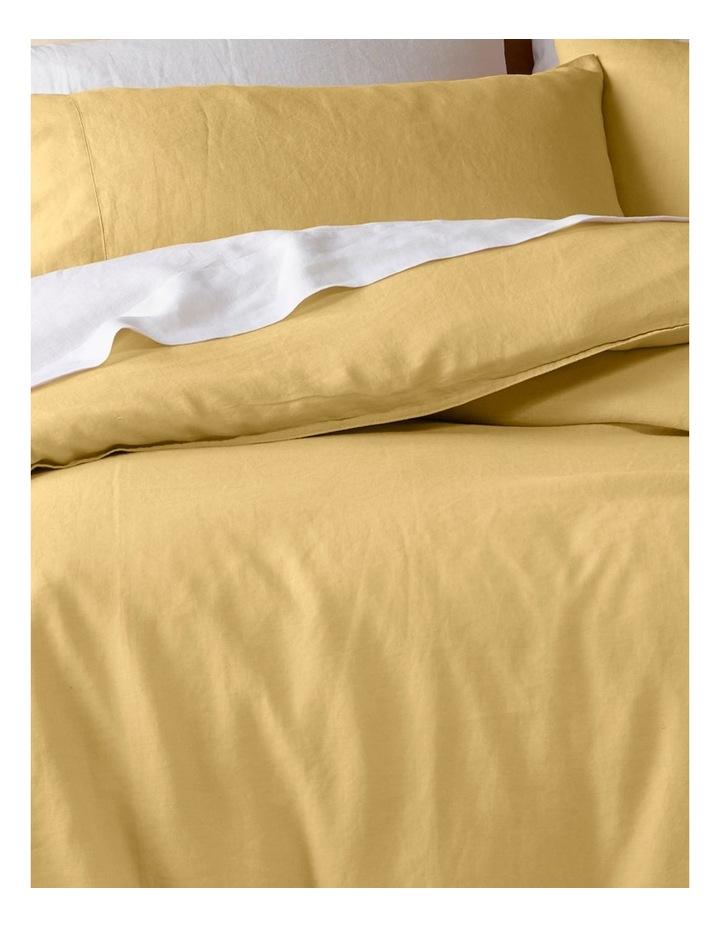 Sandy Cape Linen Quilt Cover in Saffron image 2