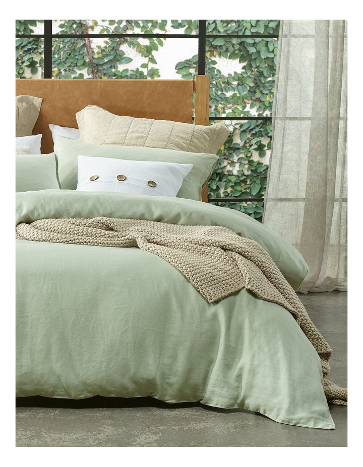 Sandy Cape Linen Quilt Cover Set in Mineral Grey image 1
