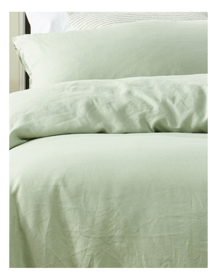 Sandy Cape Linen Quilt Cover Set in Mineral Grey image 2