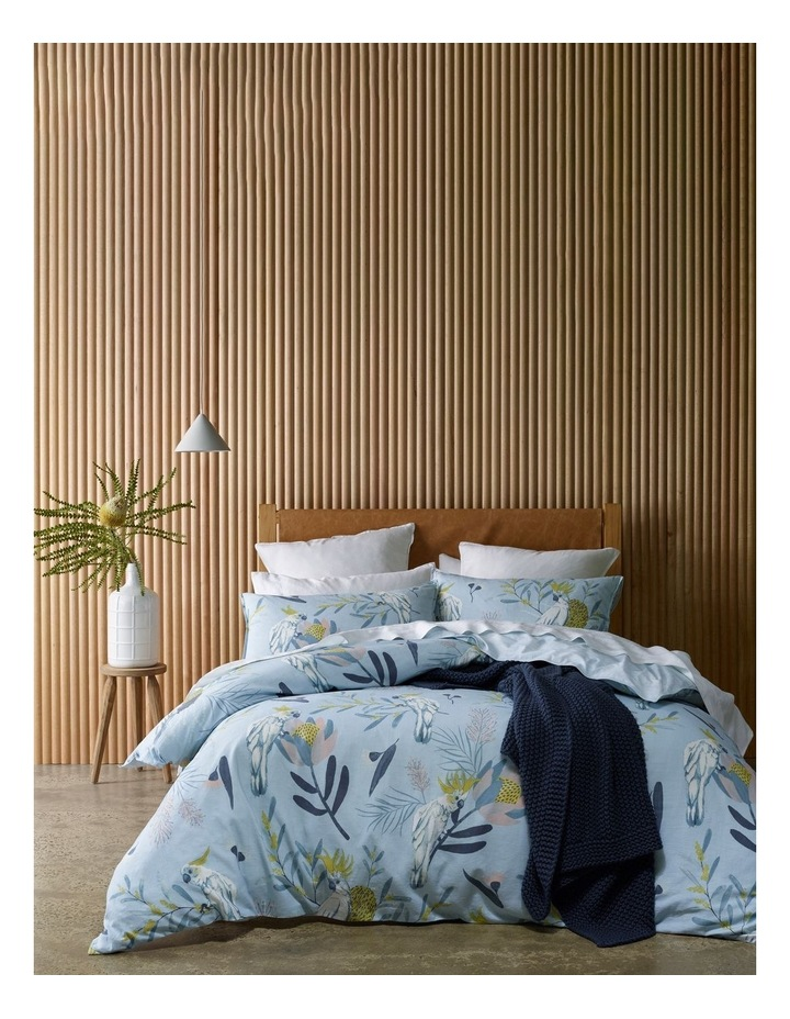 Hamilton Cotton Quilt Cover Set in Blue image 1