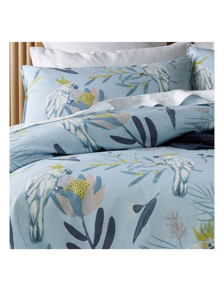Hamilton Cotton Quilt Cover Set in Blue image 2