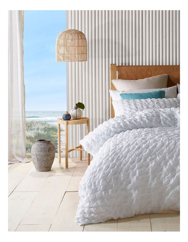 Noosa Cotton Quilt Cover Set in White image 1