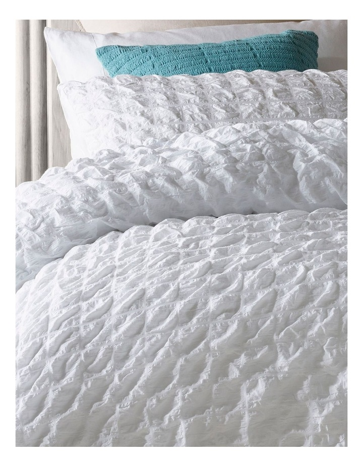 Noosa Cotton Quilt Cover Set in White image 2