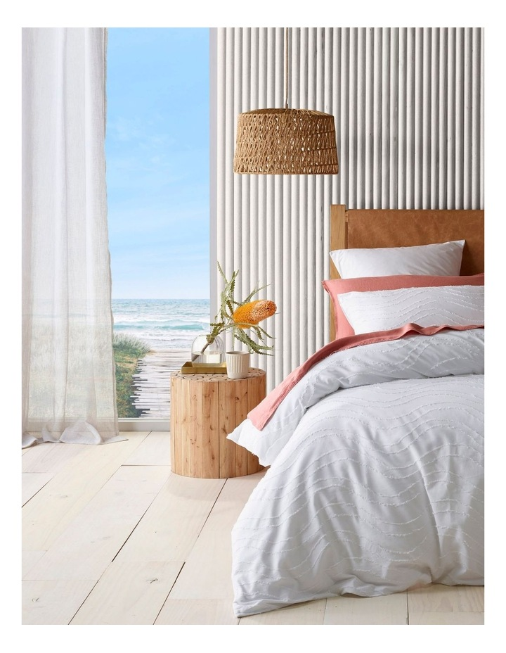 Narooma Quilt Cover Set in White image 1