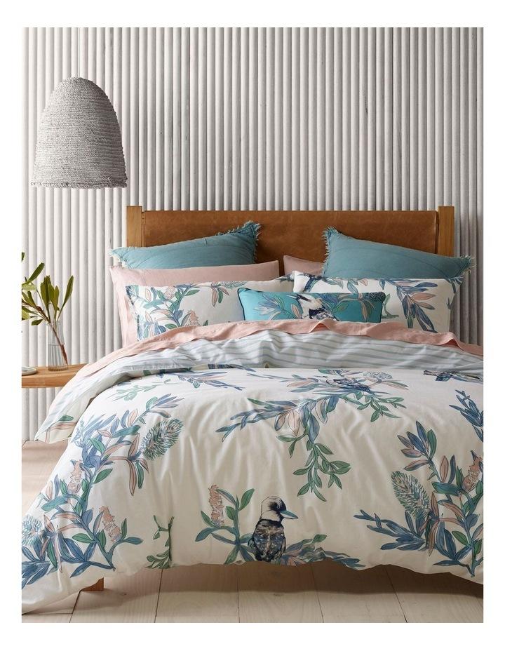 Wategos Kookaburra Cotton Quilt Cover Set in Blue/White image 1