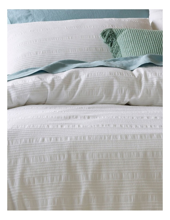 Yamba Seersucker Quilt Cover Set in White image 2